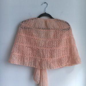 Vintage Accessories - VINTAGE MONTESSA blush knit vest shawl wool&mohair